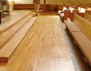 Bethlehem Church, Minneapolis, MN, Installed by Shademaker Flooring