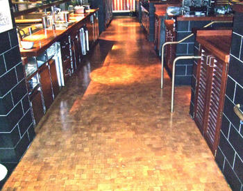 PF Chang's Restaurant, Boston, MA, Installed by Veatch Mason & Co. of Ohio,  WearMax Products Used: Advanced Ceramic Armor, Advanced Ceramic Satin Shield