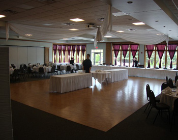 Florian Gardens Banquet Center Floor, Eau Clair, WI. WearMax was installed in 2005, and since then, approximately 6,000,000 people have danced, eaten, and trampled this floor. Its maintenance crew has only cleaned it with a Swiffer microfiber mop and plain water.